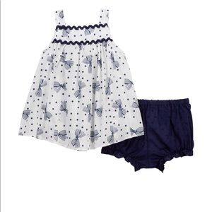 Pippa & Julie Polka Dot Bow Dress & Bloomers